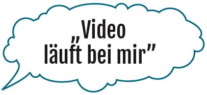 Video läuft bei mir